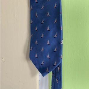 Brooks brothers sale boat tie 100% silk light blue